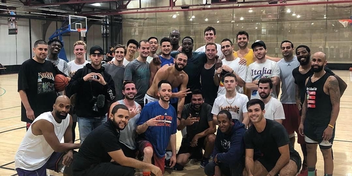Dwyane Wade surprises basketball players at Chelsea Piers